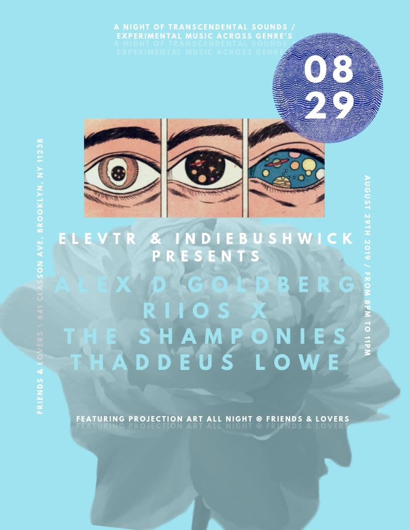 a night of transcendental sounds featuring alex d goldberg, riios, th (   )  at Friends and Lovers