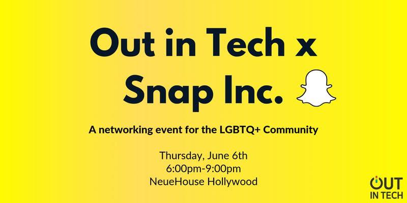 Out in Tech LA   Snap Inc  Pride Mixer in Los Angeles