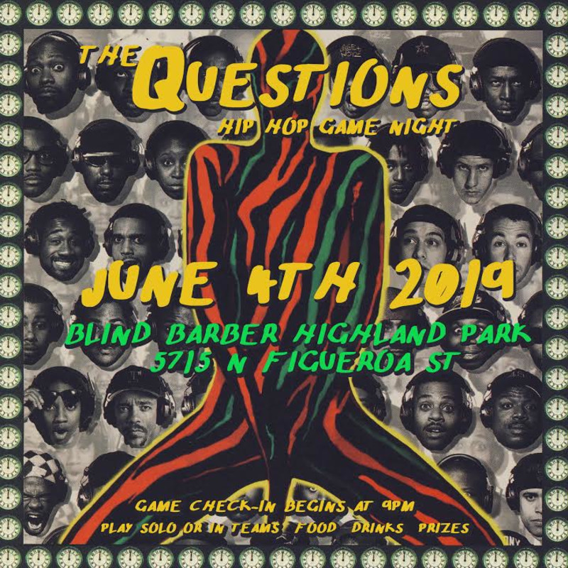 The Questions: Hip Hop Game Night in Los Angeles at Blind Barber