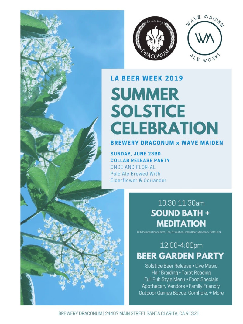 Summer Solstice Celebration in Newhall at Brewery Draconum