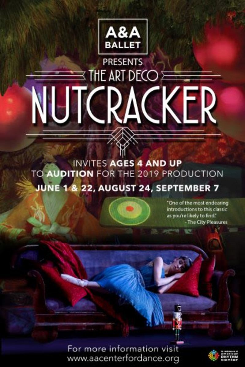 "A&A Ballet Open Auditions for ""The Art Deco Nutcracker"" in"