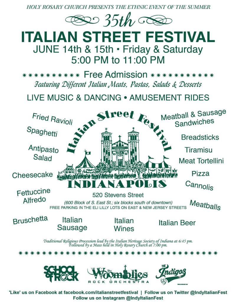 2019 Italian Street Festival in Indianapolis at Holy Rosary
