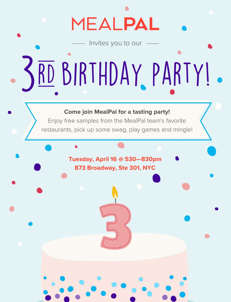 Mealpal S Birthday Party In New York At 873 Broadway