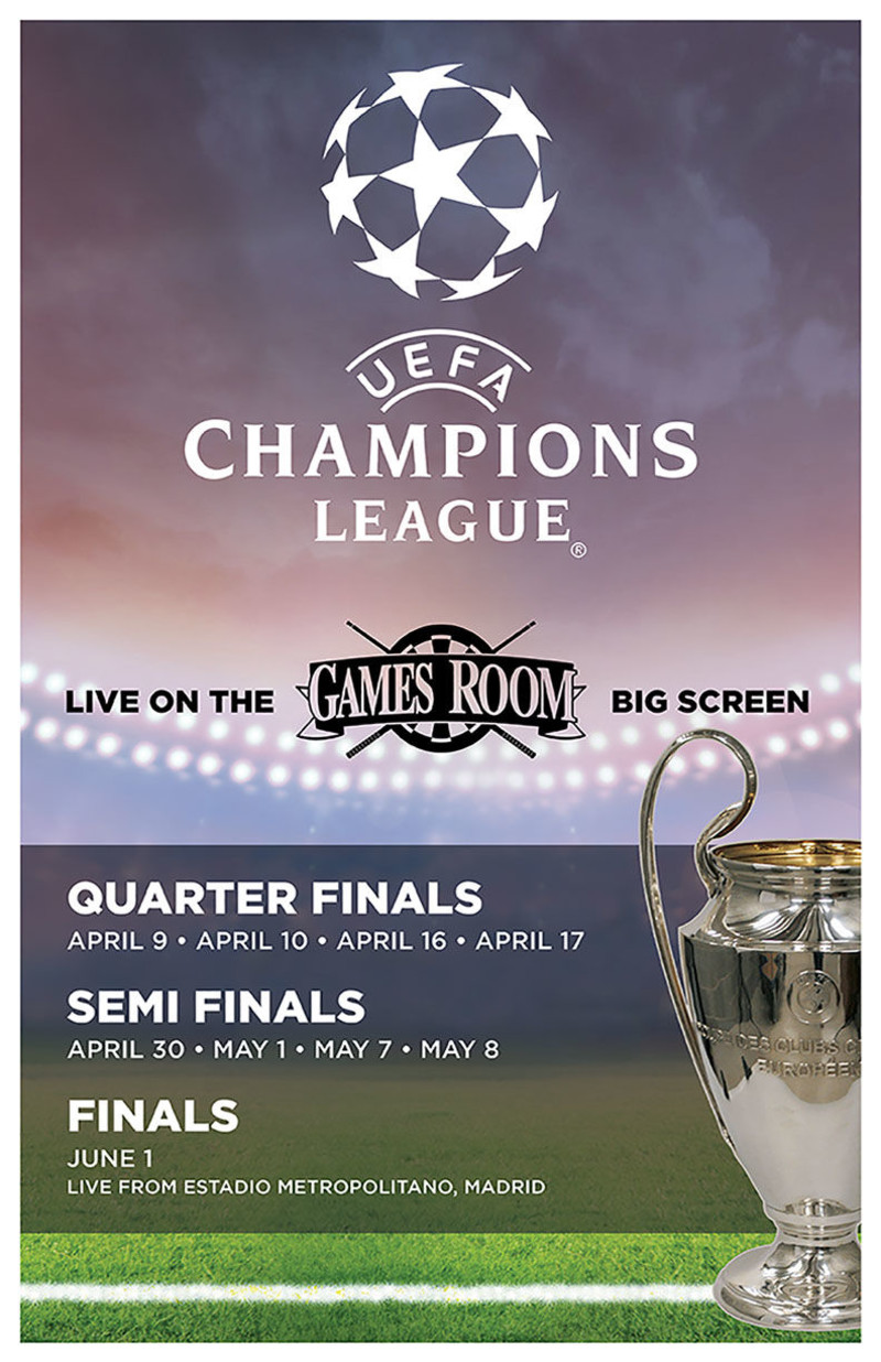 UEFA Championship League in Victoria at The Games Room