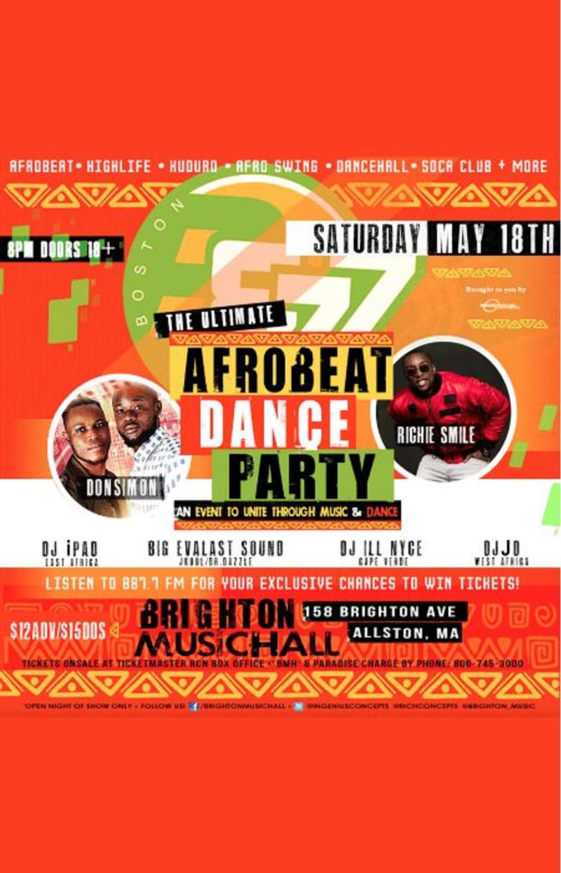 B87 7 FM AfroPulse Presents: THE ULTIMATE AFROBEAT DANCE PARTY |