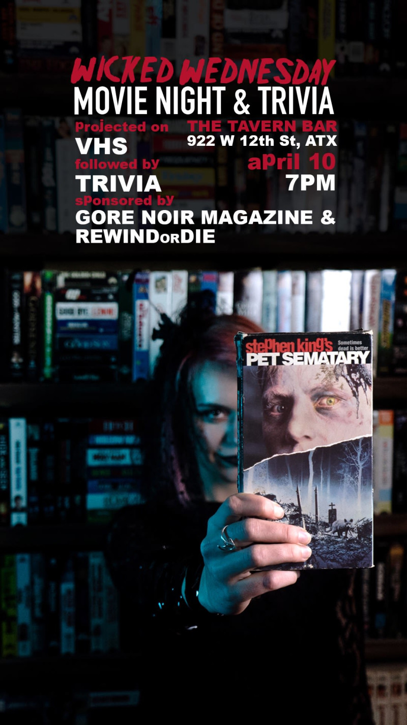 Wicked Wednesday Movie and Trivia Night: Pet Sematary (1989) in
