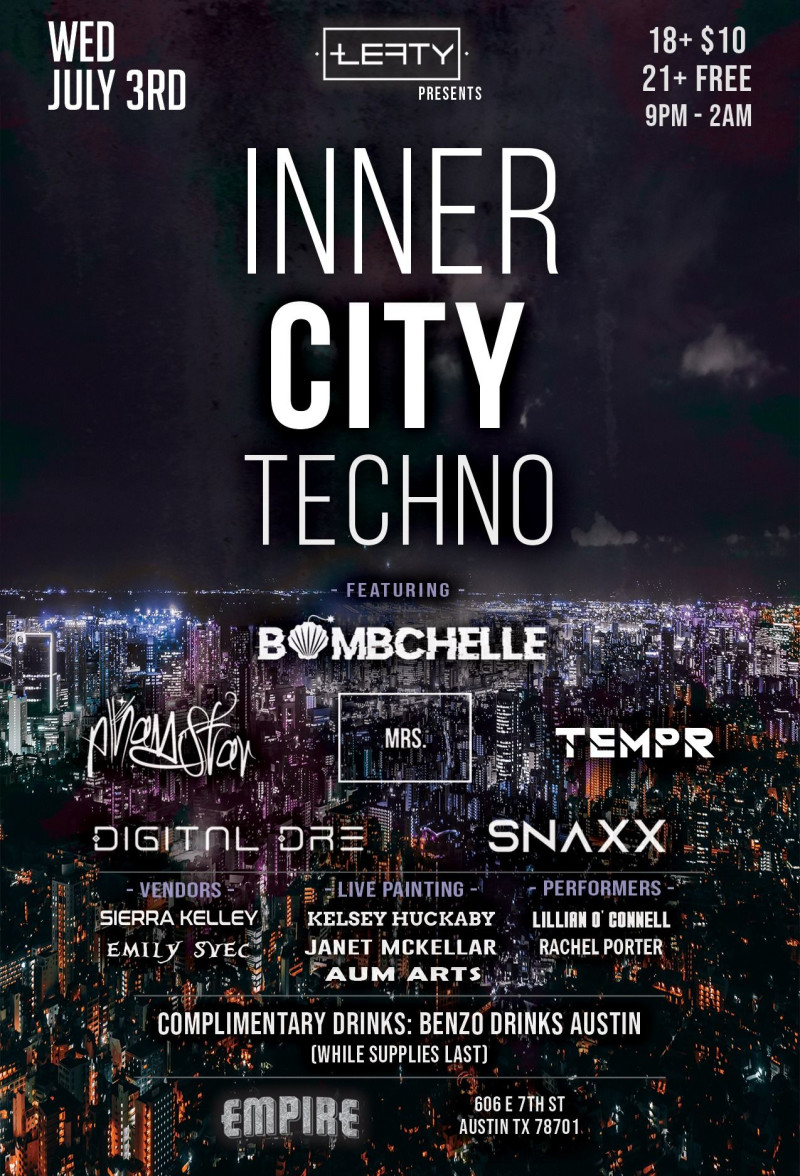 Inner City Techno in Austin at Empire Control Room & Garage