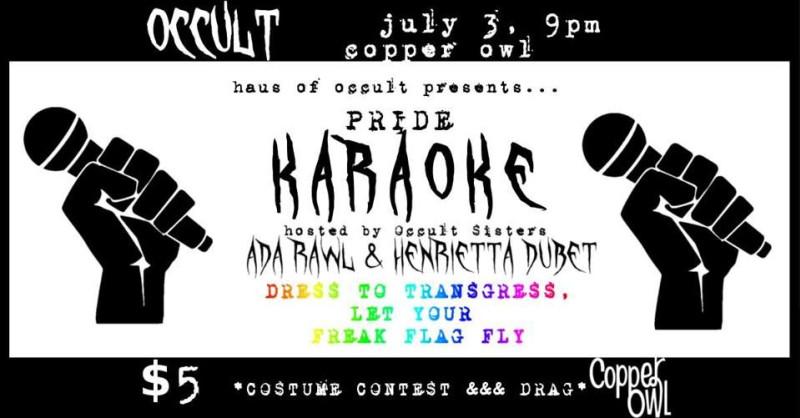 LGBTQ + Pride Karaoke at Copper Owl