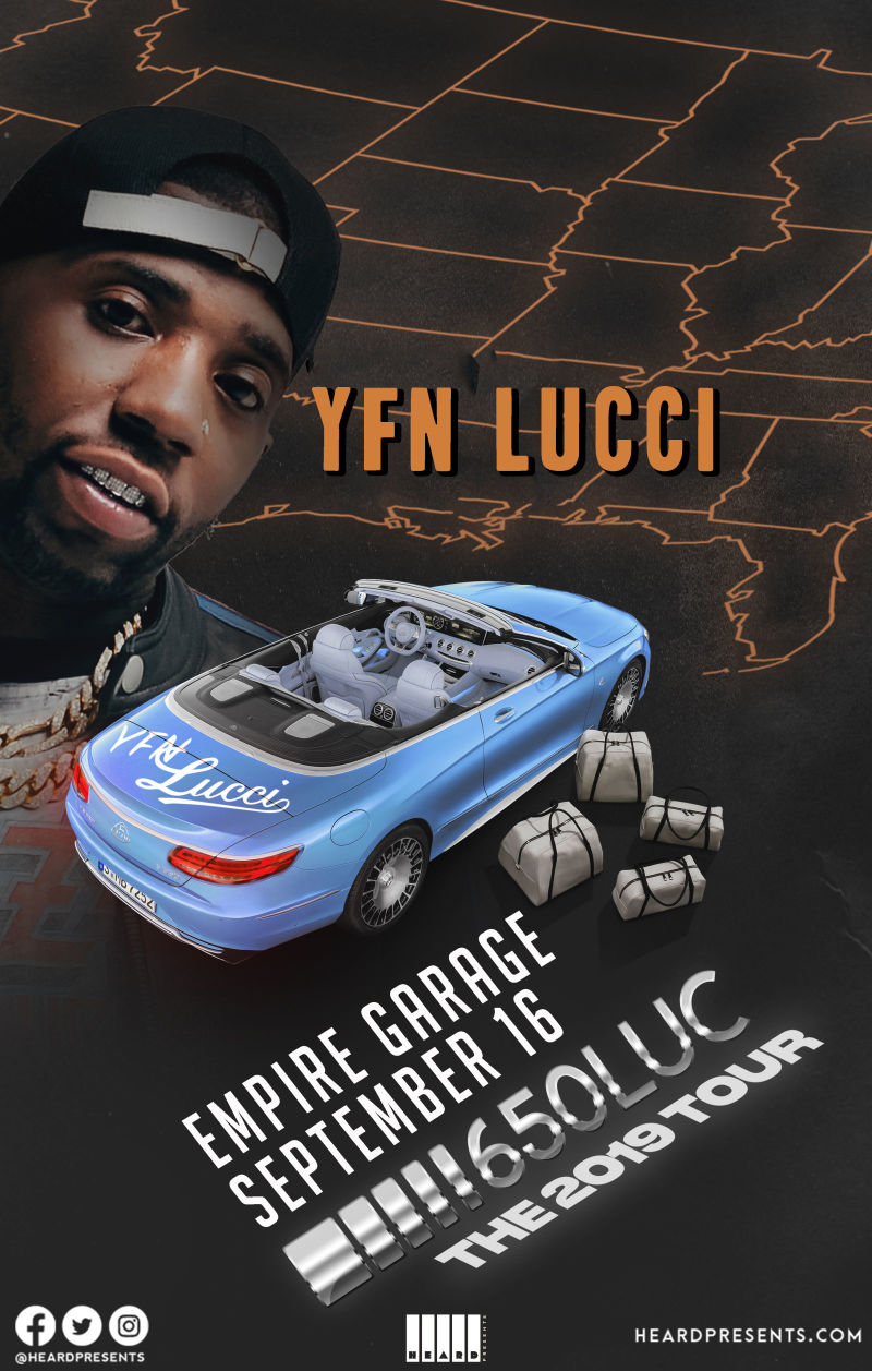 Lucci Tour Dates 2020 YFN Lucci in Austin at Empire Control Room & Garage