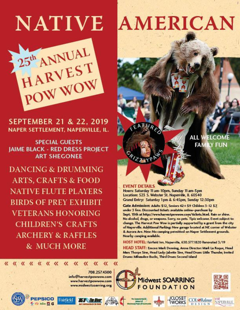 25th ANNUAL HARVEST POW WOW in Naperville at Naper Settlement