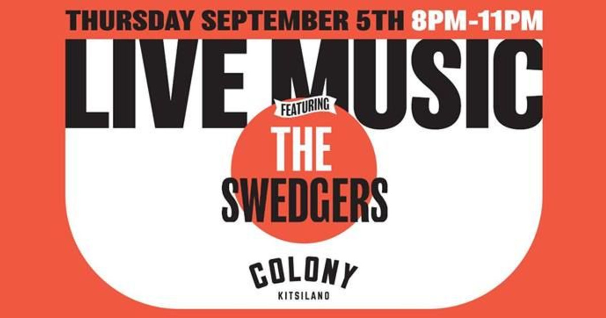 Live Music Night: The Swedgers in Vancouver at Colony Kits