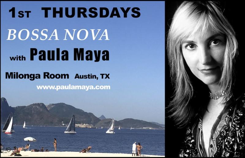 1st Thursdays Bossa Nova With Paula Maya In Austin At