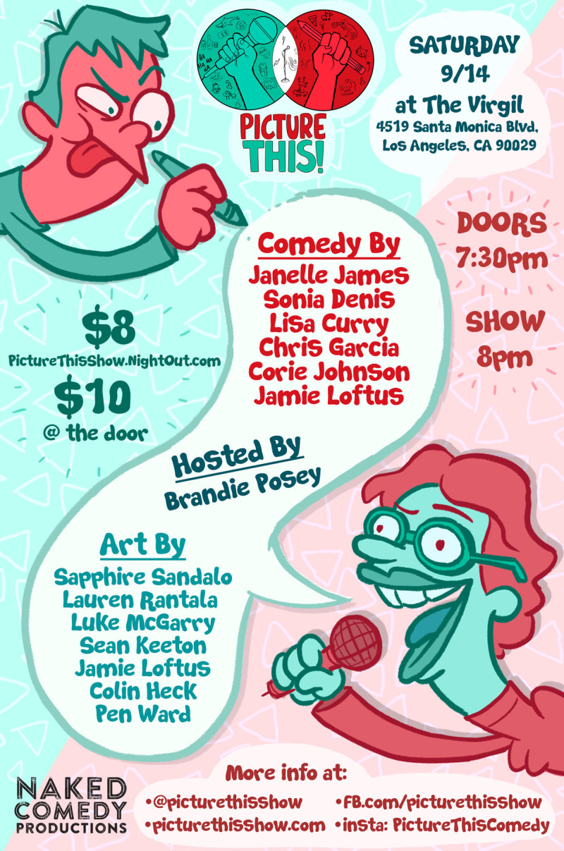 Picture This! #LA LIVE ANIMATED COMEDY 2nd Saturdays at The