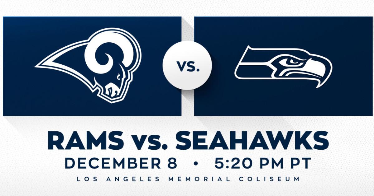 Rams Vs Seahawks In Los Angeles At Los Angeles Memorial Coliseum