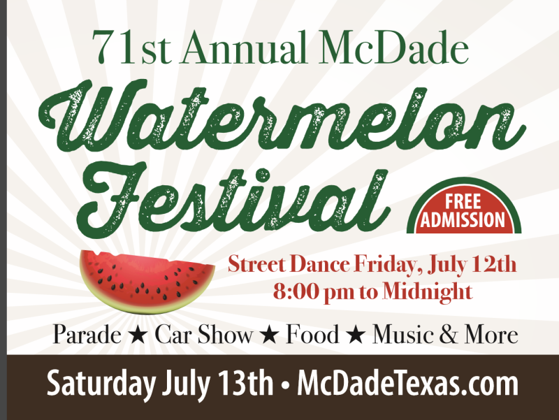 71st Annual Mcdade Watermelon Festival In Mcdade At Mcdade