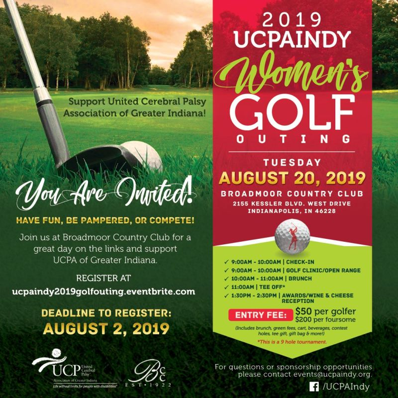 ecc8df0823 2019 UCPA Indy Women's Golf Outing in Indianapolis at Broadmoor