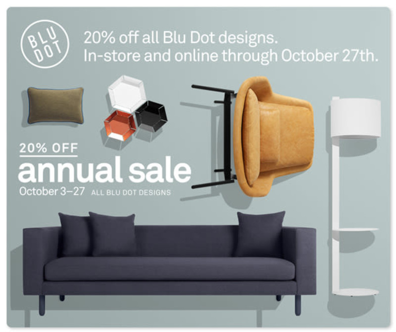 Blu Dot Annual Sale in Austin at Blu Dot