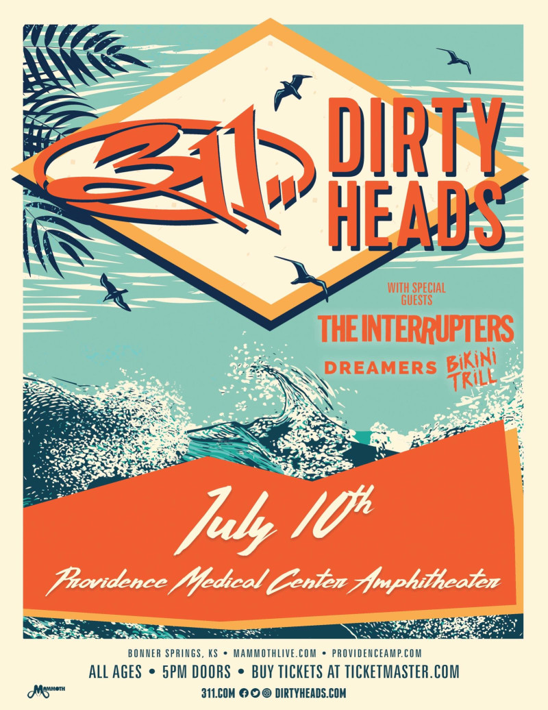 311, The Dirty Heads, The Interrupters in Bonner Springs at