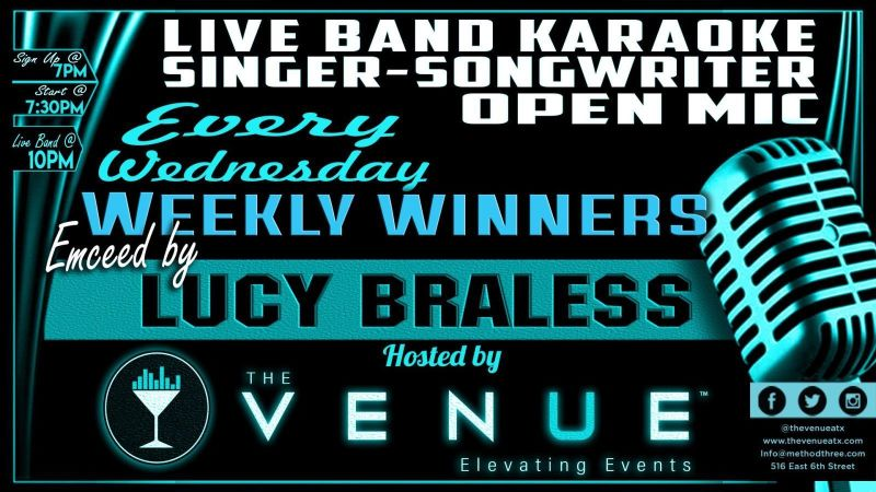 Singer Songwriter Open Mic Live Band Karaoke in Austin at The