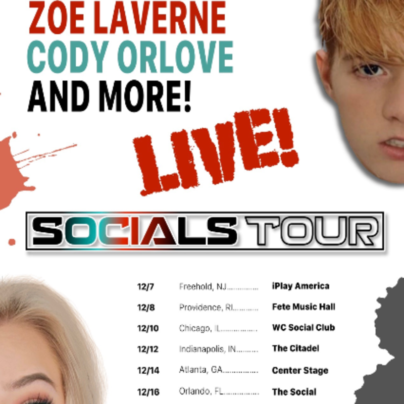 Socials Tour W Zoe Laverne Cody Orlove At Fete Music Club