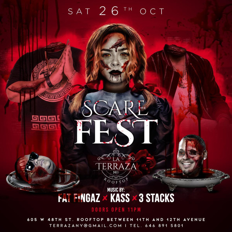 Scare Fest Halloween Party Oct 26th At La Terraza Nyc At Stage 48