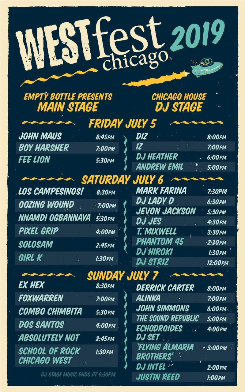 New West Fest 2019 Lineup West Fest Chicago in Chicago at West Town