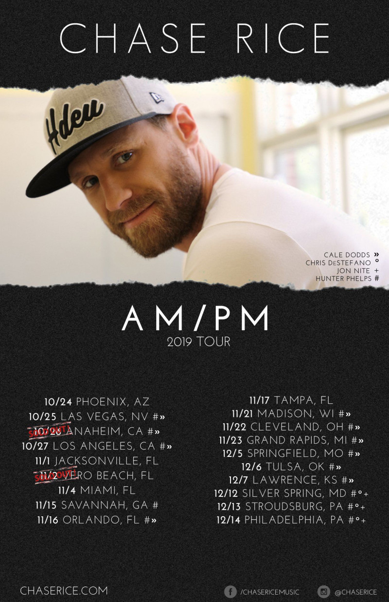 Chase Rice Am Pm 2019 Tour At The Wiltern
