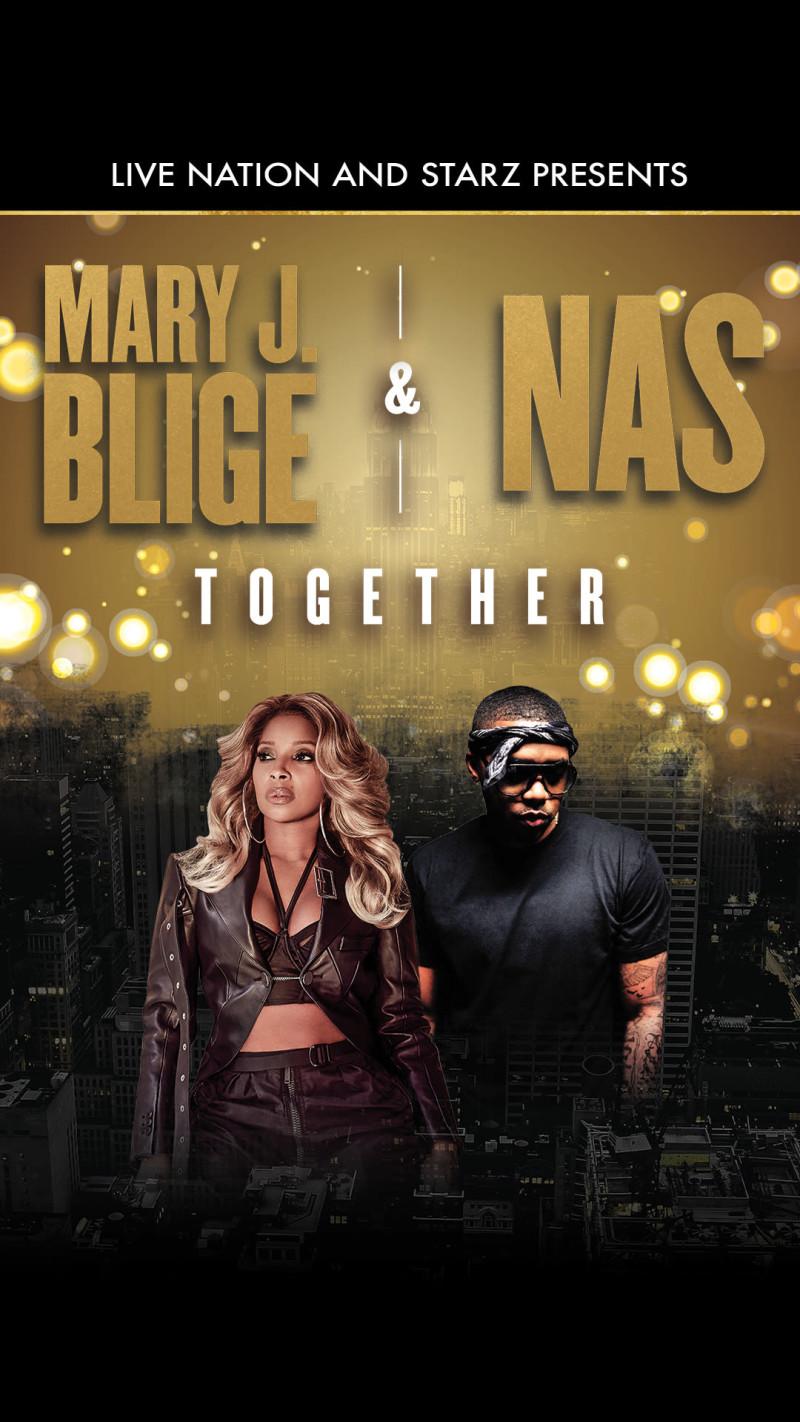 Mary J  Blige & Nas at Austin360 Amphitheater