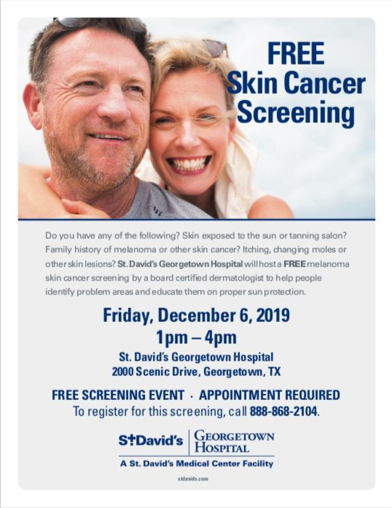 Free Skin Cancer Screening In Georgetown At St David S