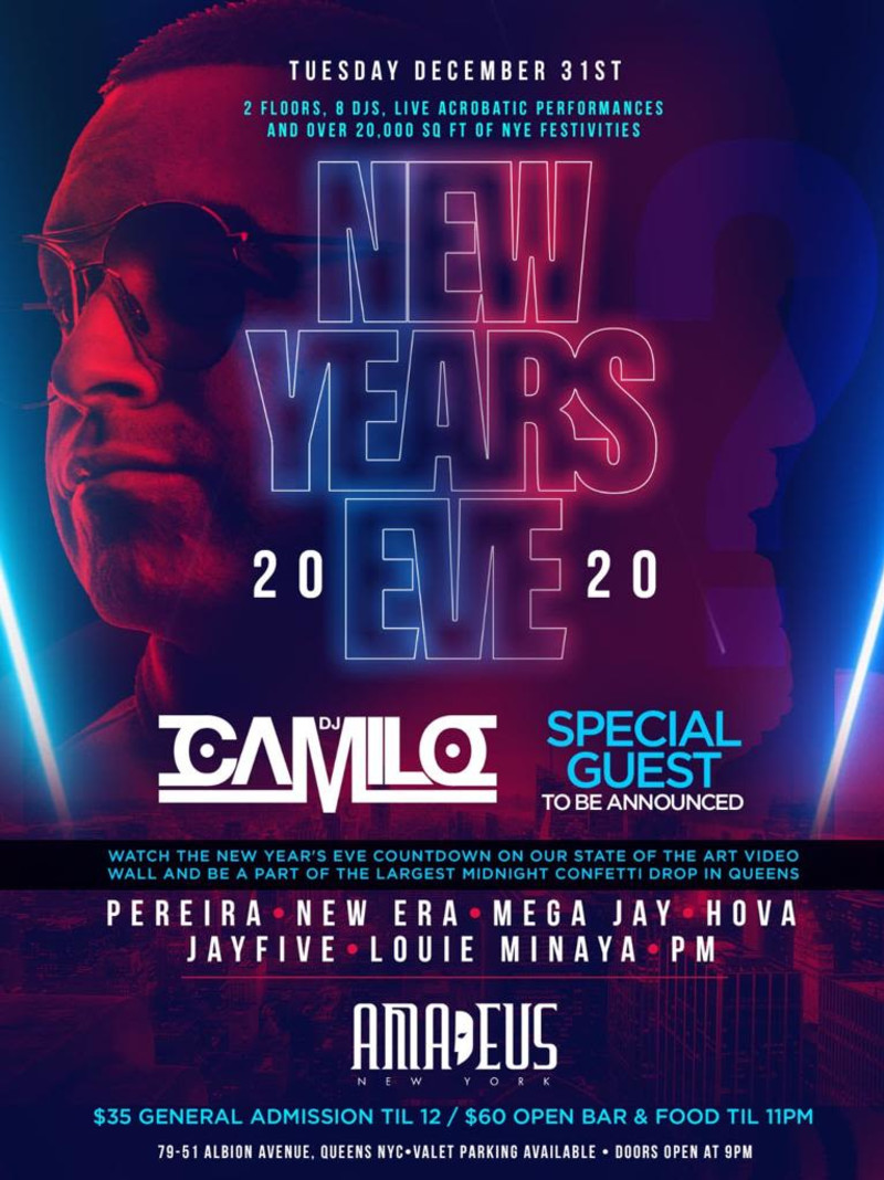 New Years Bowl Games 2020.New Years Eve 2020 Club Amadeus In Elmhurst At Amadeus
