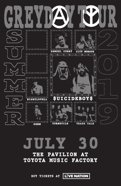 uicideboy$, Denzel Curry, Turnstile in Irving at The Pavilion