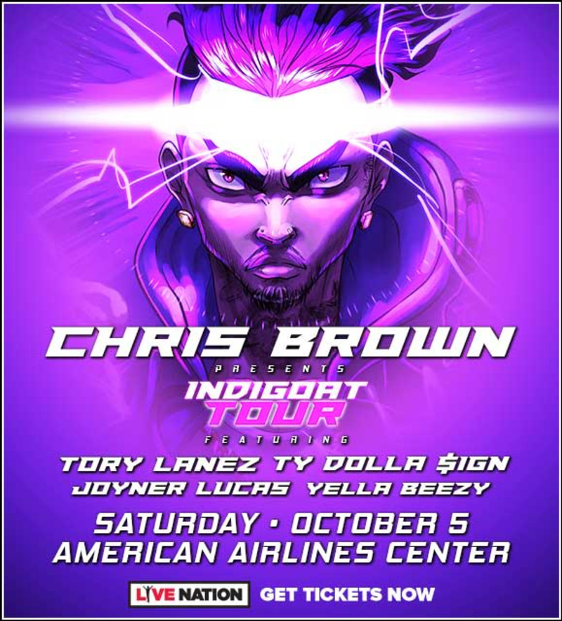 Chris Brown in Dallas at American Airlines Center