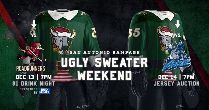 San Antonio Rampage Vs Tucson Roadrunners Ugly Sweater