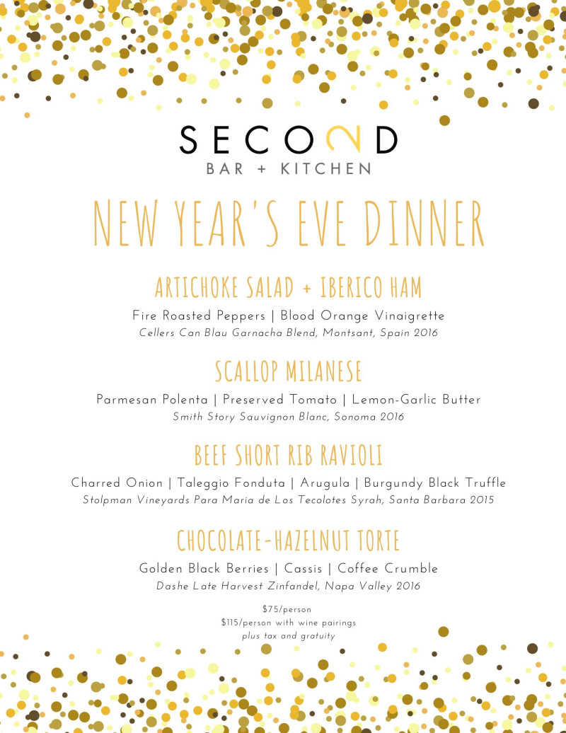 New Year S Eve Prix Fixe In Austin At Second Bar Kitchen