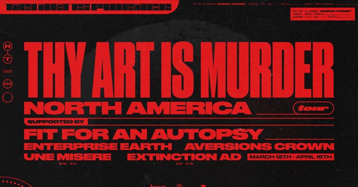 Thy Art is Murder - Apr 1st - The Rickshaw