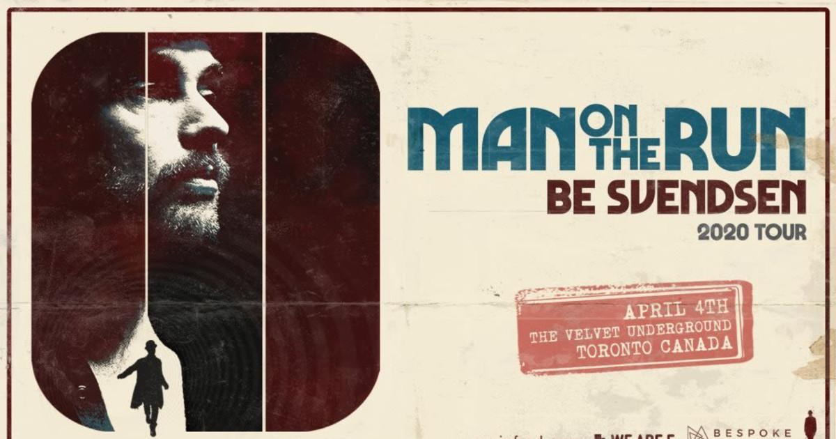Be Svendsen 'Man On The Run' 2020 Tour