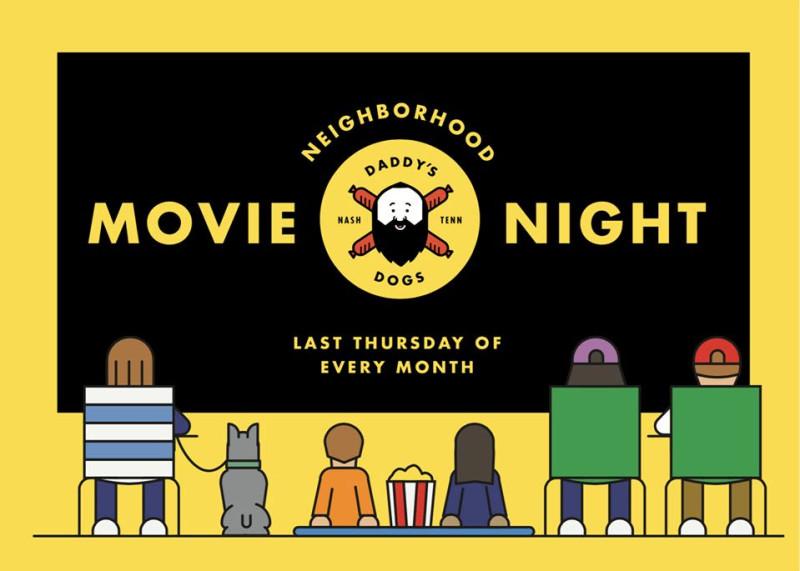 Neighborhood Movie Night- Sandlot in Nashville at Daddy's Dogs