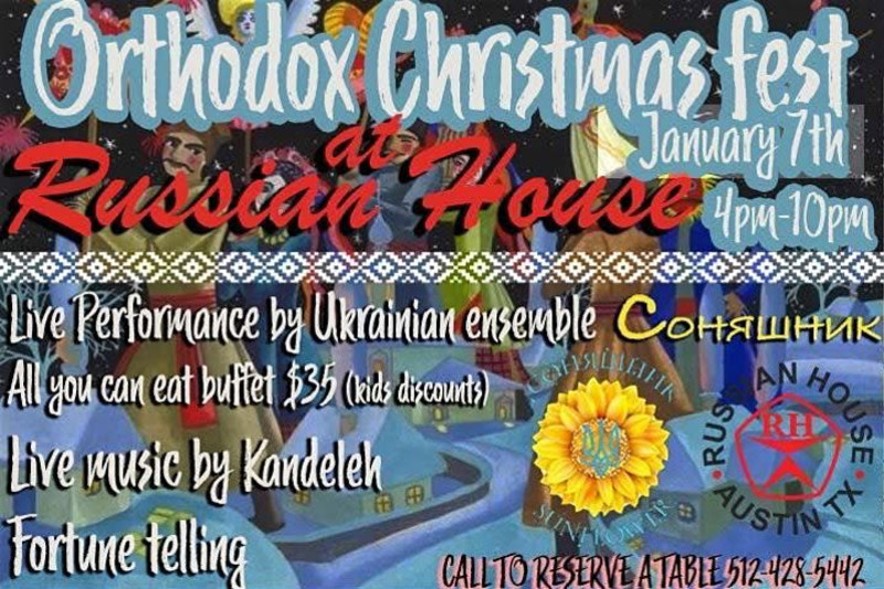 Christmas Music Austin 2020 Orthodox Christmas Celebration in Austin at Russian House of