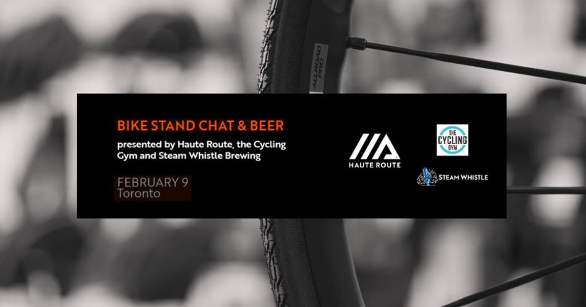 Bike Stand Chat and Beer