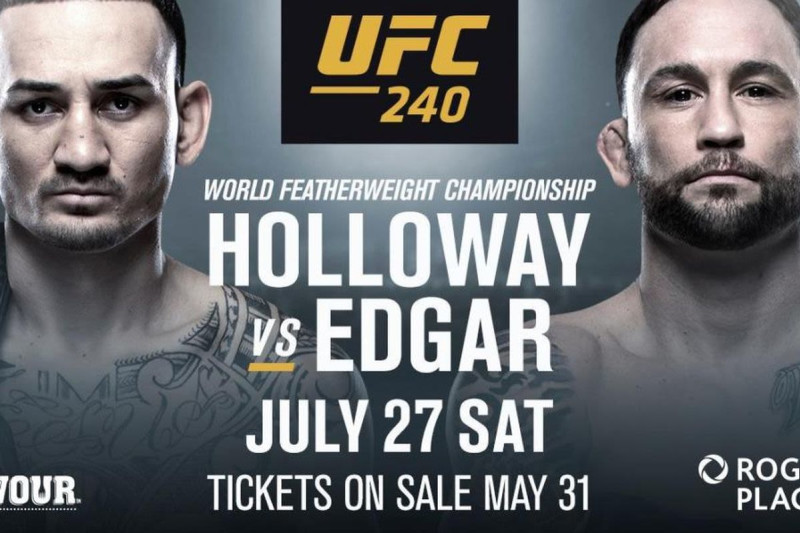 UFC 240 HOLLOWAY V EDGAR in Au...