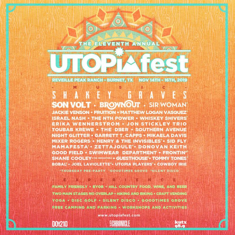 Utopiafest Eleven Ft Shakey Graves Son Volt Brownout