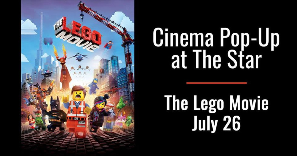 Cinema Pop Up At The Star The Lego Movie In Frisco At The Star In