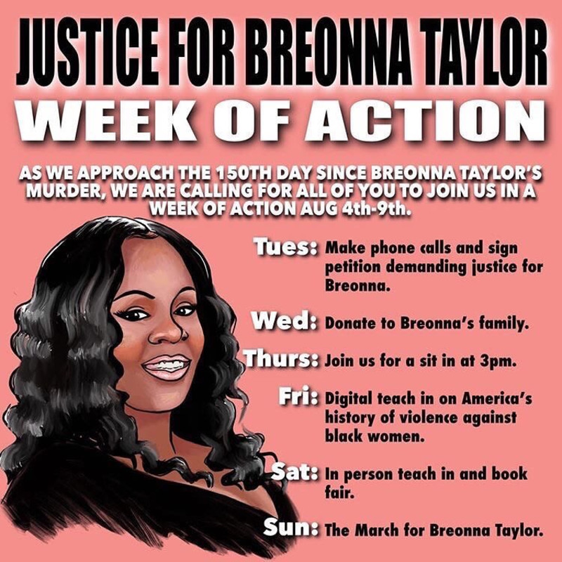 Justice For Breonna Taylor Week Of Action In Nyc At Various