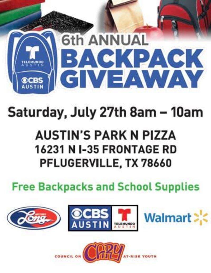6th Annual Back-to-School Backpack Giveaway in Pflugerville at