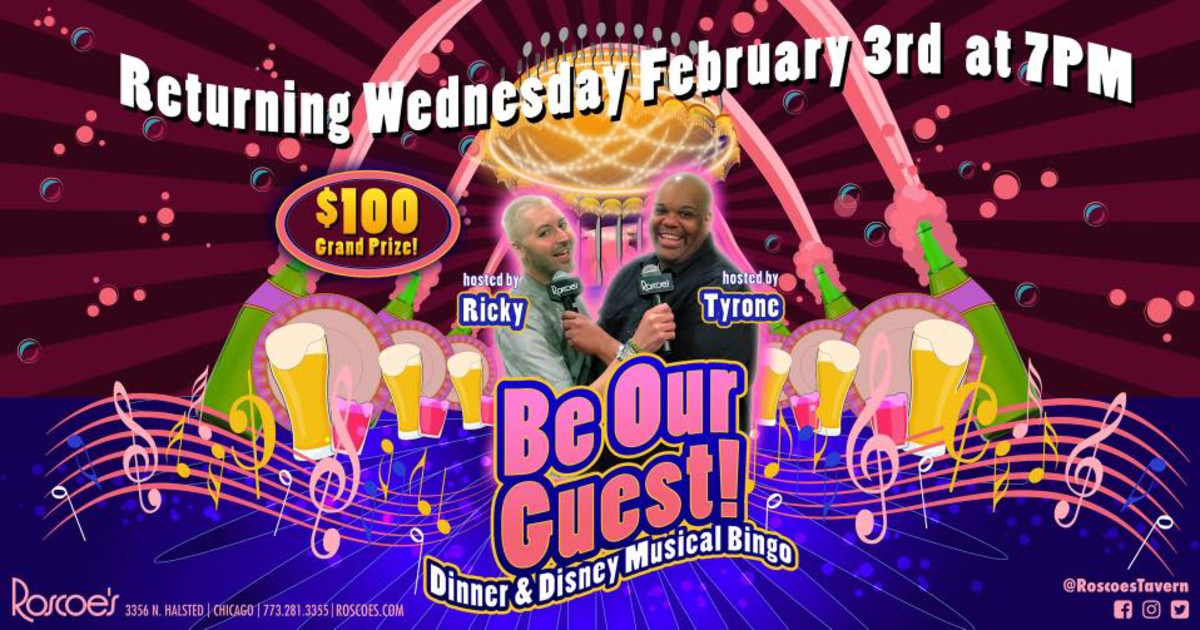 Chicago 2/3/21 Be Our Guest: Dinner & Disney Musical Bingo!