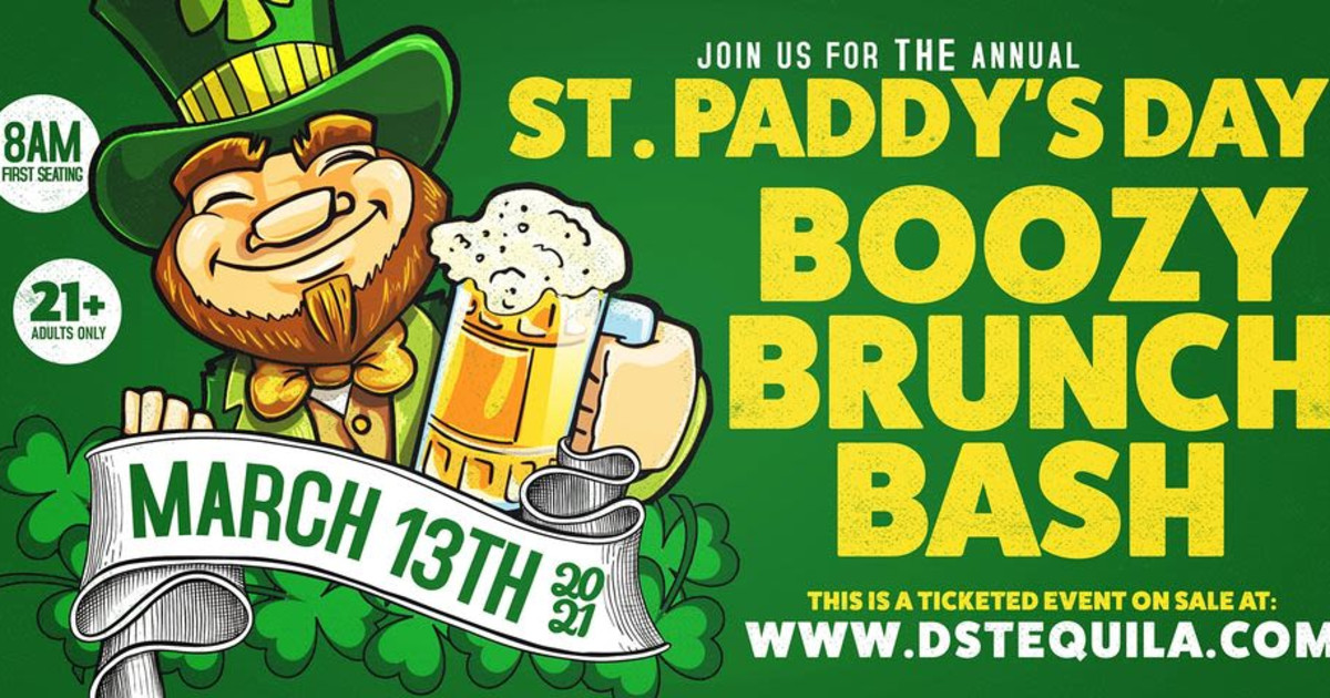 Chicago 3/13/21 St. Paddy's Day Boozy Brunch Bash 2021
