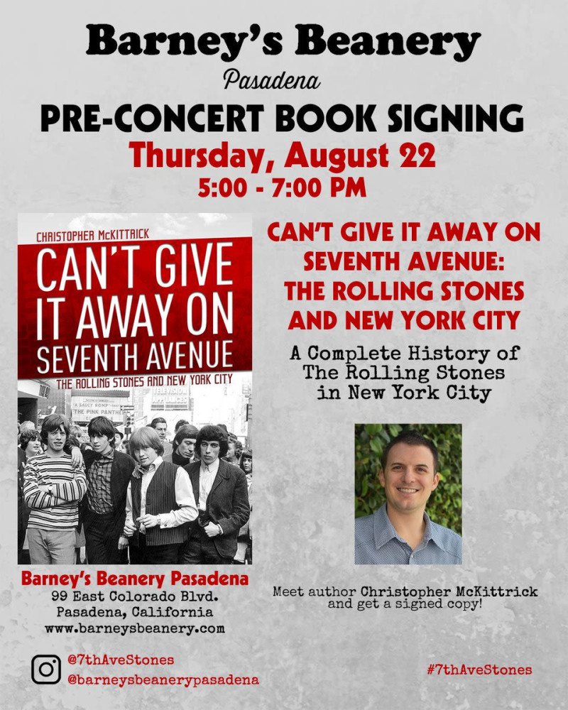 Book Signing: Rolling Stones: Can't Give It Away on Seventh