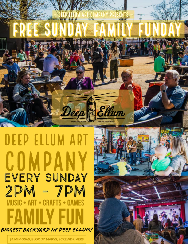 Free Sunday Family Fun Day featuring Live Music + Arts & Crafts in