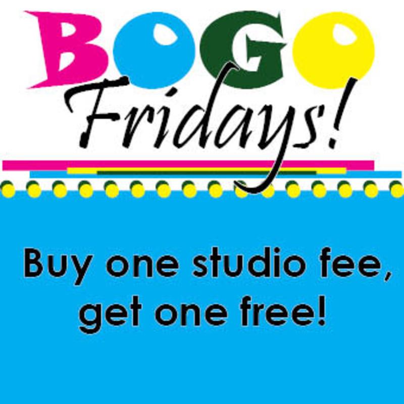 BOGO Fridays in Boulder at Color Me Mine Studio