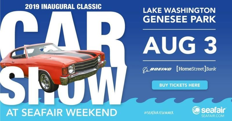 Inaugural Classic Car Show at Seafair Weekend in Seattle at